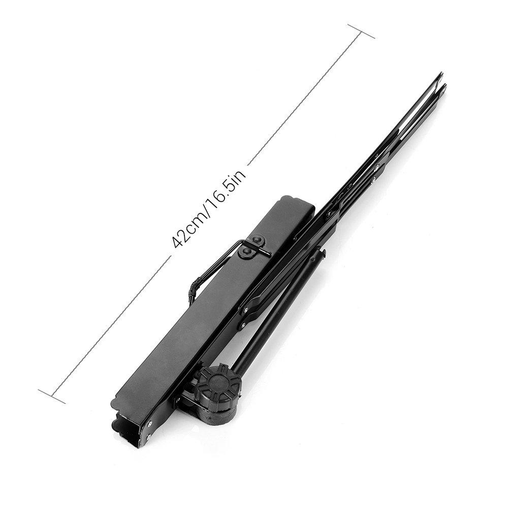 Lightwish - Black Metal Sheet Portable Adjustable Music Stand Music Holder Folding Foldable by Lightwish (Image #4)