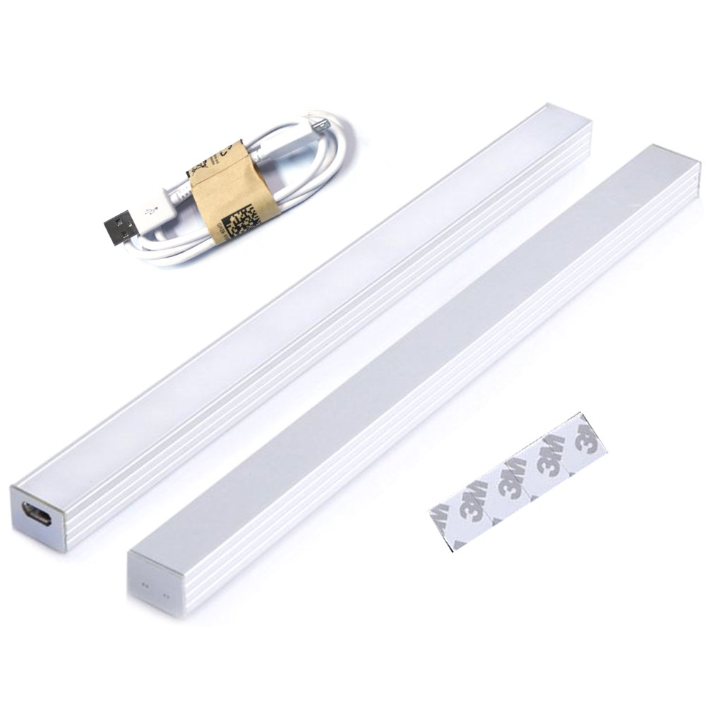 INVESCH 8 Inch 4W Portable USB Reading Strip Light Bar Dimmable LED Desk Lamp TV Monitor Backlight Under Cabinet Lighting with Touch Control Dimmer Switch (Soft white)