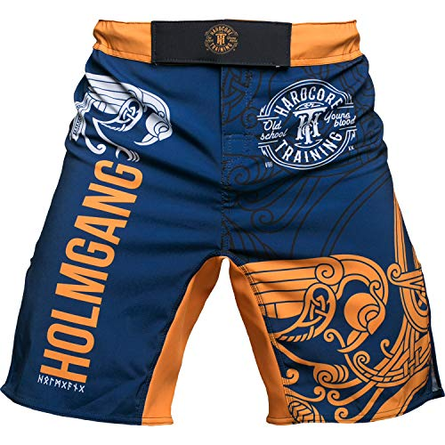 Hardcore Training Fight Shorts for Men Holmgang - Cage Fight BJJ Fitness Boxing MMA-m ()