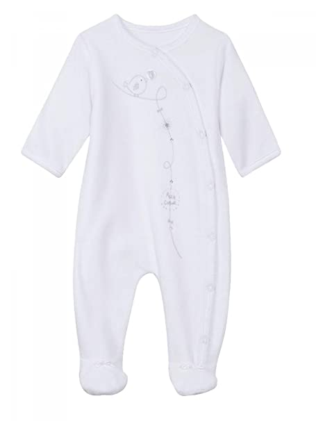 Absorba - Pijamas enteros - para bebé niña blanco 12 Meses
