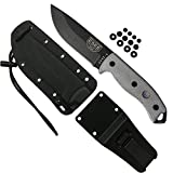 ESEE Authentic 5P-E Tactical Survival Knife, Kydex Sheath w/Clip Plate
