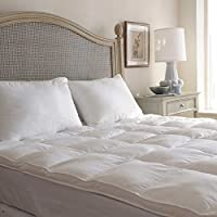 LUXURIOUS Beyond Synthetic Down Fibre FEATHER BED (Queen Size) - 100% Cotton, SOFT and COMFORTABLE Mattress Topper - The Best Alternative Bed Comforter Sheet Duvet by SleepBetter
