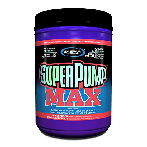 Gaspari Nutrition Super Pump Max, Fruit Punch, 1.41-Pounds ()