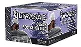 Aluf Plastics 719956 Ultrasac Heavy Duty Professional Quality Recycling Trash Bag, 45 Gallon Capacity, 46'' Length x 40'' Width, Clear (Case of 100)