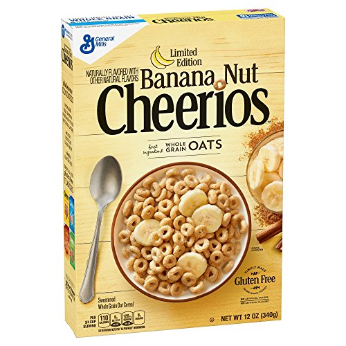 Cheerios Banana Nut Breakfast Cereal 12oz, pack of 1