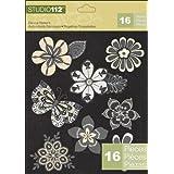 K&Company Studio 112 Die-Cut Stickers, Flowers