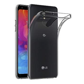 AICEK Funda LG Q7, Transparente Silicona Fundas para LG Q7 Carcasa ...