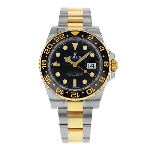 New Rolex GMT Master II Stainless Steel and 18K Yellow Gold Mens Watch 116713 LN (Rolex Yacht Master Ii Stainless Steel Price)