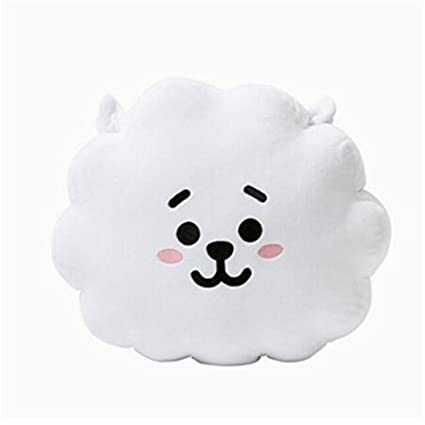 "EWINHUIYING KPOP Cute Cartoon BTS BT21 Plush Doll Toy Bangtan Boys Throw Pillow Cushion 17.7"""