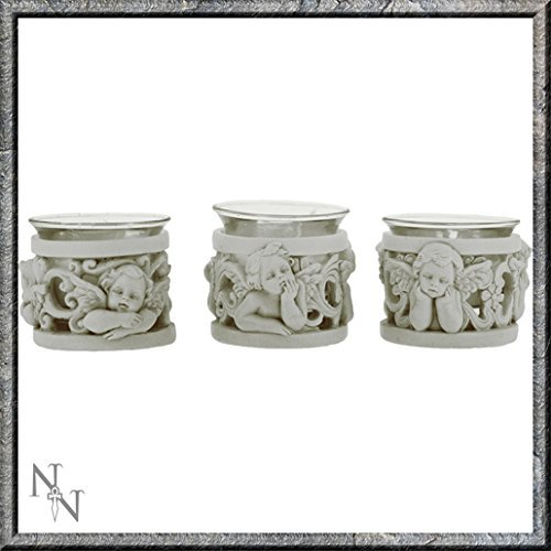 CHERUB ANGEL TEA LIGHTS SET OF 3 NEMESIS NOW by Nemesis Now