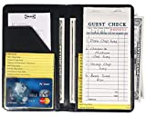 Server Book for Waitress Waiter Book with Zipper Pocket at Back (Black with Zipper Pocket)