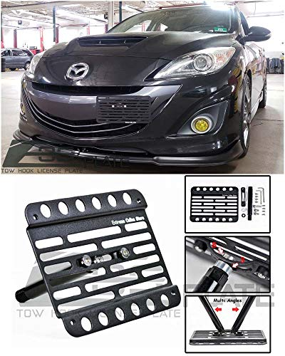 - Extreme Online Store for 2010-2013 Mazda MazdaSpeed 3 | EOS Plate Version 1 Front Bumper Tow Hook License Relocator Mount Bracket EOS-Tow-231 (Mid Size)