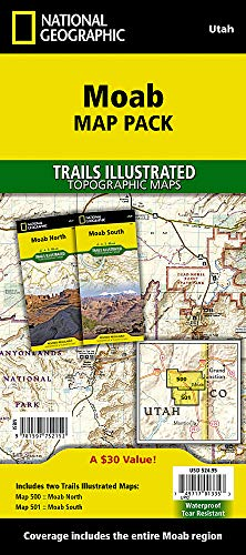 Moab [Map Pack Bundle] (National Geographic Trails Illustrated Map) (Topo Maps Utah)