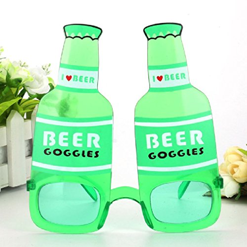Beer Bottle Wine Costume Glasses Party Prop Holiday Beach Oktoberfest Wedding ()