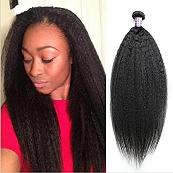 Coarse Yaki Human Hair Weaves Cheap 6A Brazilian