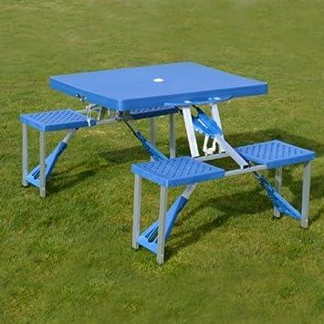 Tragbarer Picknick Tisch Und Stühle, Zusammenklappbar, Leicht, Für Camping  Und Garten Shopmonk