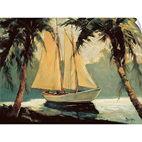 CANVAS ON DEMAND Sailboat, Santa Barbara Wall Peel Art Print, -