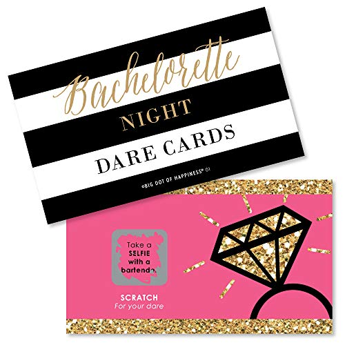 Big Dot of Happiness Girls Night Out  Bachelorette Party Game Scratch Off Cards  22 Count