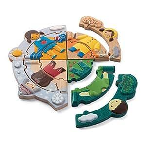 PlanToys - ¿Qué tiempo hace hoy?, puzzle de madera (5666)
