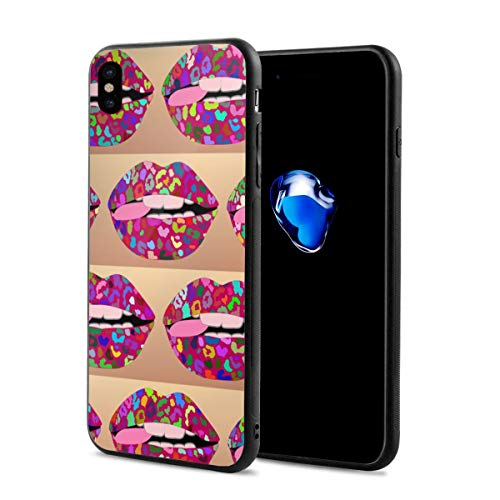 King Dare Pink Punk iPhone Xs Case/iPhone X Case Soft TPU Shell Full Protective Bumper Anti-Scratch Case Enhanced Grip Protective Defender Cover -