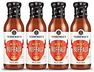 product image for Tessemae's All Natural HOT Buffalo Sauce, Whole30Certified, Keto Friendly, USDA Organic, 10 oz. bottles (4-Pack)