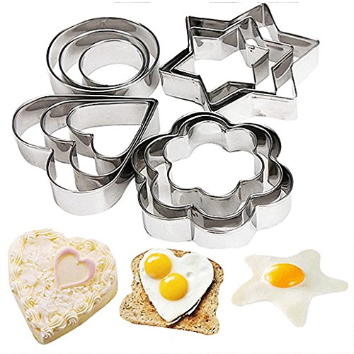 Honmofun Cookie Cutter Set Cookie Cutters Fruit Cutter Cake Cookie Biscuit Egg Fondant Molds Cake Chocolate Cupcake Maker for Kids Cutter Babycakes Cupcake Maker for Girls Sugarcraft Cutter
