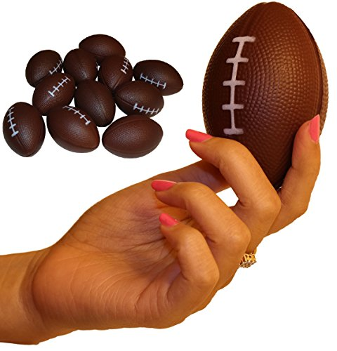 Dozen Foam Mini Football Stress Balls by Wilde Tyke (TM) by Wilde Tyke