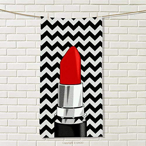 DESPKON-HOME Sport Towel Chevron Stripes Lipstick Vibrant Assorted Colors W 12