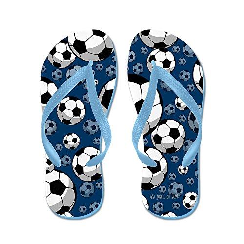 Cafepress Soccer - Chanclas, Sandalias Thong Divertidas, Sandalias De Playa Caribbean Blue
