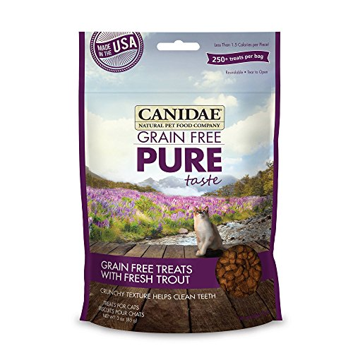CANIDAE Grain Free PURE Taste Cat Treats with Fresh Trout, 3 oz