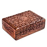 Rusticity Wood Jewelry Box Decorative | Handmade | (7x5 in)