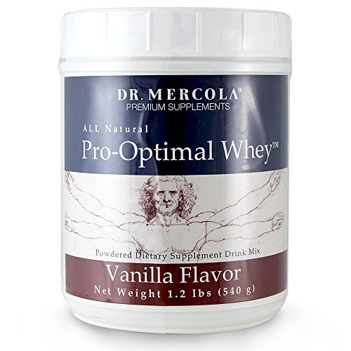 Cheap Dr. Mercola Pro-Optimal Whey Vanilla – All Natural – Powdered Dietary Supplement Drink Mix – No Artificial Sweeteners Or Flavors – 1.2 lb Jar (540g)