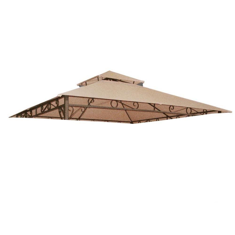 10.6x10.6' Gazebo Top Cover Outdoor Canopy Replacement Patio Garden Yard 2 Tier
