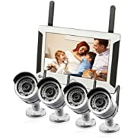 Swann SWNVW-470PK4-US All-in-One SwannSecure Wi-Fi HD Security System with 7 LCD Monitor & 4x 720p Cameras