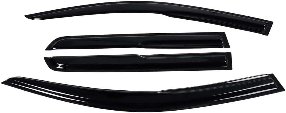 WHJIXC per Mitsubishi ASX 2010 2011 2012 2013 2014 2015 2016 2017 2018 2019 4 Pezzi Deflettore Antivento per Visiera per Finestra Nera