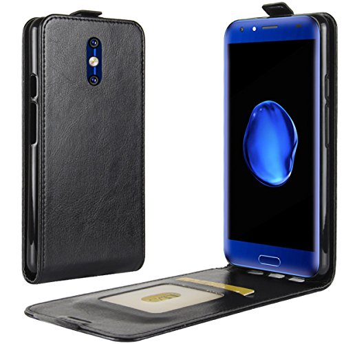 Black Flip Case Vertical (DOOGEE BL5000 Case,Gift_Source [Magnetic Closure] Premium PU Leather Vertical Flip Phone Case Ultra Slim Fit Folio Up-Down Open Protective Cover with Card Slots For DOOGEE BL5000 (5.5