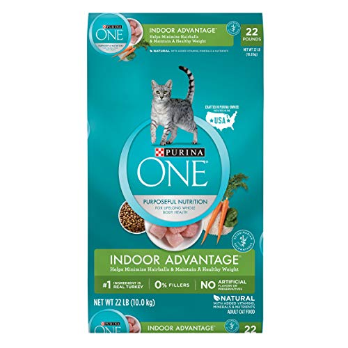 Purina One Indoor Advantage Adult Dry Cat Food - 22 Lb. Bag