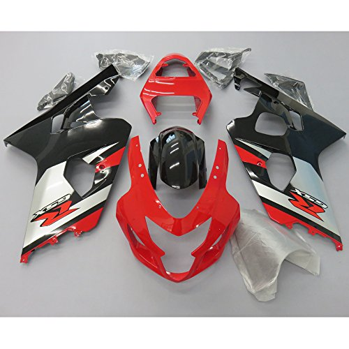 Oem Suzuki Fairings - ZXMOTO OEM Style Red Fairing Kit for Suzuki GSXR 600 GSXR 750 K4 (2004-2005)
