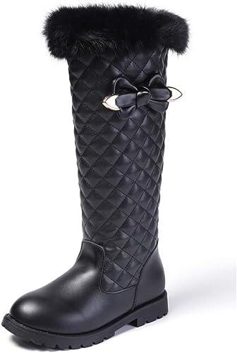 Red EU 35//3 M US Little Kid Girls Waterproof Bowknot Side Zipper Winter Boots Toddler//Little Kid//Big Kid