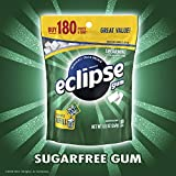 ECLIPSE Spearmint Sugarfree Chewing Gum, 180 piece