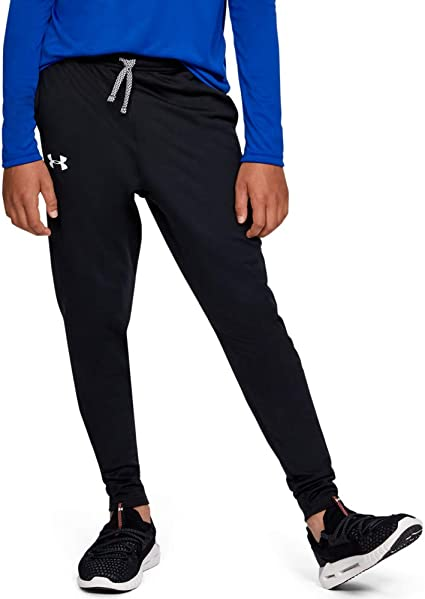 Under Armour Brawler Tapered Pants, Black/White, Youth Large