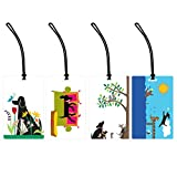 I Love Dogs 4-Piece Colorful Luggage Tag Set – Assorted