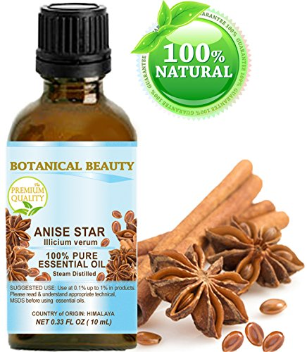 ANISE STAR ESSENTIAL OIL Himalayan. 100% Pure Therapeutic Grade, Premium Quality, Undiluted. 0.33 Fl.oz.- 10 ml.