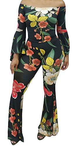 Ybenlow Womens Piece Shoulder Floral