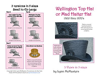 Sewing Pattern Hat Top - Wellington or