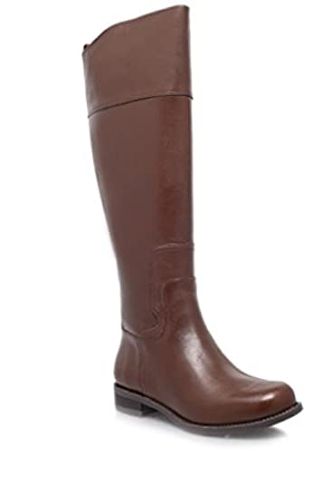 ab0c05612 NINE WEST KURT GIEGER Women s CROMIE Dark Brown Leather High Leg Boots (UK  8