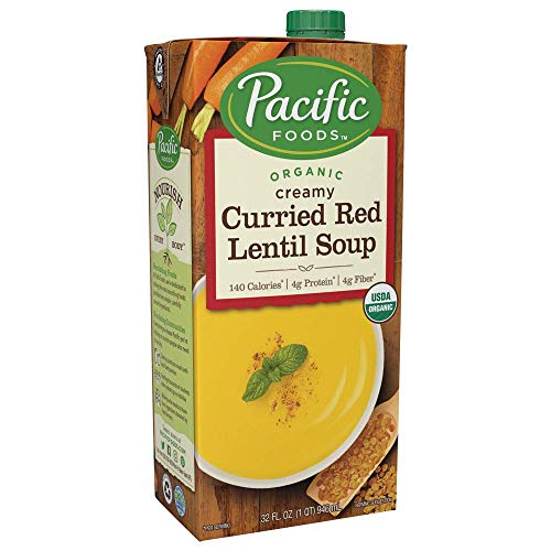 Curried Red Lentil Soup - Pacific Foods Organic Curried Red Lentil Soup, 32oz, 12-pack
