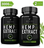 (2 Pack | 240 Pills) Hemp Oil Capsules for Pain Relief Anxiety Sleep(3000mg) Best Natural Organic Hemp Seed Oil Powder Extract -Zero THC CBD Cannabidiol - Anti Inflammatory Joint Support, Pure Hemp