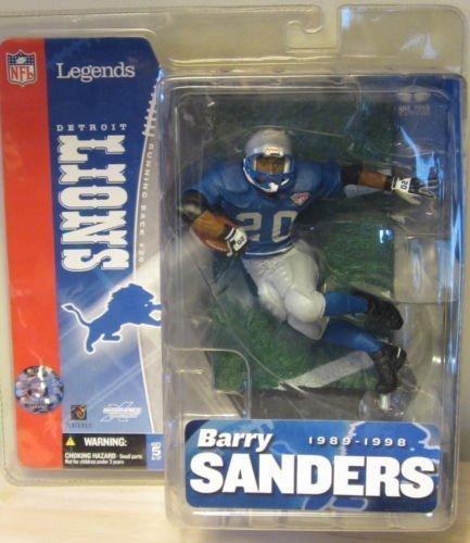 Barry Sanders Mcfarlane NFL Legends Series Detroit Lions Blue Jersey Thanksgiving Throwback Jersey