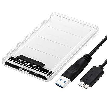 NANAD - Carcasa para Disco Duro SATA HDD SSD (2,5